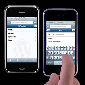 WPhone wordpress plugin for iPhone