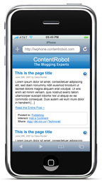 Apple iPhone Plugin for WordPress